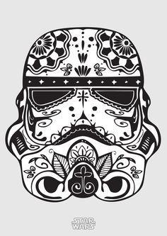 Poster 'Stormtrooper' com moldura   Dependure   Elo7
