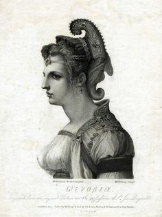 Zenobia (Wevobia), the Queen of Palmyra, Syria in the 3rd century, engraved by William Sharp after the drawing by Michelangelo. This engraving was among those collected by Thomas Jefferson. Published