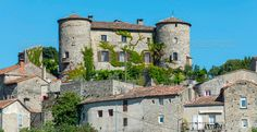 Parc des Cevennes, historic village ...  ancient, architecture, blue, building, castle, cevennes, city, cityscape, color, day, europe, exterior, france, french, gard, green, hill, historic, house, languedoc-roussillon, old, outdoor, photography, plant, sky, summer, sunny, top, town, tree, typical, urban, village