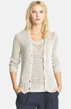 Eileen Fisher Open Stitch V-Neck Cardigan available at #Nordstrom