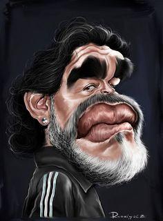 Diego Armando Maradona por Maxi Rodríguez