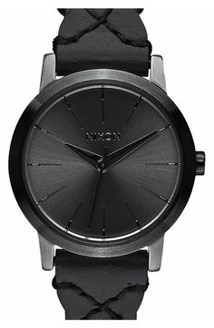 Nixon 'The Kenzi' Round Leather Strap Watch, 26mm available at #Nordstrom