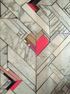 The pattern- marble art deco floor Floor Patterns, Tile Patterns, Textures Patterns, Marble Art, Marble Floor, Marble Tiles, Quarry Tiles, Bath Tiles, Pink Marble