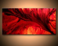 Original Abstract painting ,Red ,Black Abstract Painting,  SIZE:48X 24X 1.58  (HIGH GLOSS FINISH)  TITLE : MAGIC OF LOVE 2  This Contemporary abstract modern painting was painted on gallery wrapped acid free canvas. Only fine quality art materials have been used. edges are staple free , and painting continued on the edges . No need to frame. Ready to hang. Final coat of fine art varnish was applied to preserve YOUR INVESTMENT AGAINST UV AND DUST. Signed and dated by the artist. This painting…