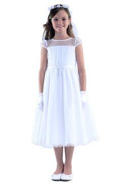 Us Angels Illusion Neckline Dress (Little Girls & Big Girls) available at #Nordstrom