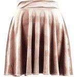 Boohoo Lissa Velvet Full Skater Skirt | Boohoo