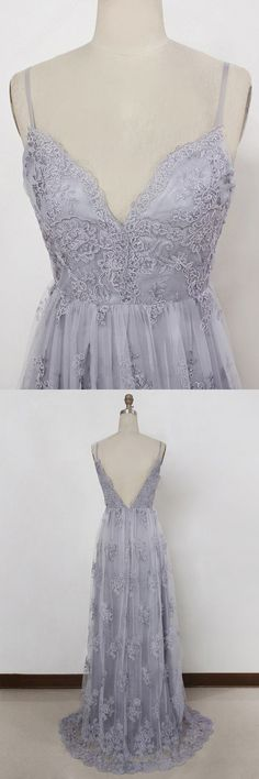 Spaghetti Straps Prom Dresses, Sexy V-neck Evening Gowns, Cheap Prom Party Dresses,lavender Prom Dresses Straps Prom Dresses, V Neck Prom Dresses, Prom Dresses 2018, Tulle Prom Dress, Lace Evening Dresses, Prom Party Dresses, Evening Gowns, Wedding Dresses, Dress Party