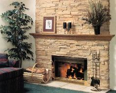 Image result for pictures of fireplaces with boral cultured stone