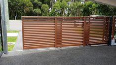 Triple Telescopic Modern Main Gate Designs, Modern Design, Sliding Gate, Automatic Gate, Outdoor Spaces, Outdoor Decor, Door Gate, Florida Home, Garden Gates