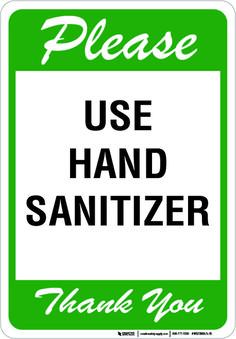 Avoid spreading harmful germs with this helpful sign, and remind those around your facility to use hand sanitizer when they can. Have you been searching for a customized sign? We can help. Health And Safety Poster, Safety Posters, Hand Hygiene Posters, Happy Dental, Corporate Signs, Hand Washing Poster, All About Me Preschool, Kids Daycare, Hand Sanitizer
