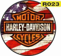 50x 50 placas vintage retro redondas em madeira harley davidson