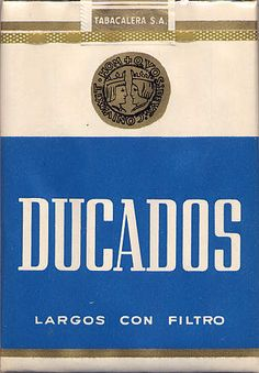 Ducados - can't believe I went through a  phase of smoking these. You know you're back in spain when you smell coffee & ducados