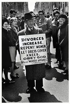 Wear Modest Apparel - Elliott Erwitt, 1969.
