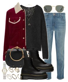 """""""Sin título #4608"""" by hellomissapple on Polyvore featuring moda, J Brand, rag & bone, Marc Jacobs, Ray-Ban, Chloé, Lazy Oaf, ASOS, Burberry y Cartier"""