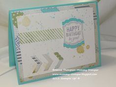 Label Love, Gorgeous Grunge, Chevron Punch, Afternoon Picnic dsp, Stampin' Up!