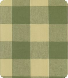 Checkmate - Thyme - Lewis and Sheron Fabrics - buffalo plaid check gingham Farmhouse Upholstery Fabric, Buffalo Check Fabric, Green Home Decor, Green Bedding, Short Hair With Layers, Window Dressings, Fabulous Fabrics, Fabric Design, My Design