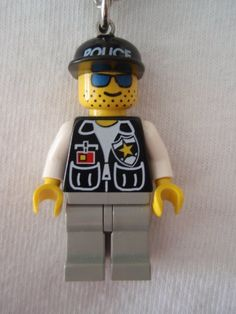 Custom Police Cop with Sheriff Star Necklace Made With Genuine LEGO Bricks on Etsy, $12.00