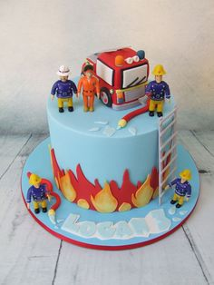 Inspiration Picture of Easy Fire Engine Birthday Cake . Easy Fire Engine Birthday Cake Pin Brenda Lopez On Birthday Party In 2019 Fireman Sam Birthday Firefighter Birthday Cakes, Fireman Birthday, 4th Birthday Cakes, Fireman Party, Fireman Sam Cake, Fireman Cupcakes, Fire Engine Cake, Fire Cake, Rion