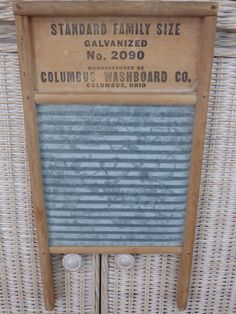 Vintage Galvanized Washboard - Standard Family Size - Columbus Washboard Co. - Sunnyland - Delightful Home Decor - Collecting or Display by ChicAvantGarde on Etsy $48 5/2016