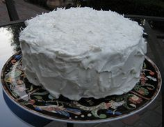 Haupia Cake is a Hawaiian coconut pudding that is made with coconut milk. The pudding is usually firm enough so that it can be eaten with your hands.