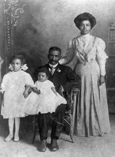 Black Victorians-This family portrait was taken in 1900 in Gainesville, Florida. It's part of a collection at the State Library and Archives of Florida.