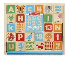 Melissa & Doug ABC/123 Wooden Blocks