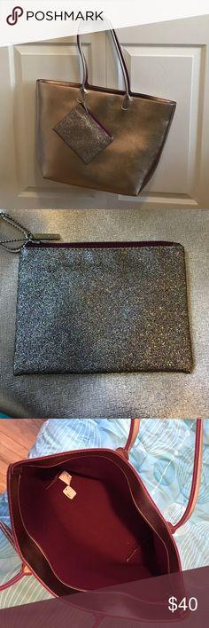 Large purse with glitter zipper pouch. Brand new. It's a light purple color. Bags Shoulder Bags