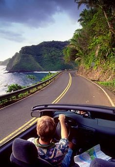 Driving the Road to Hana in a convertible ~ more then 600 curves and close to 60 bridges!