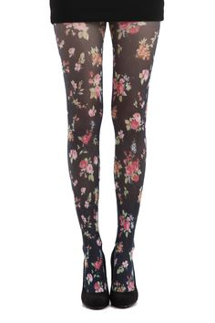 Ditsy floral tights