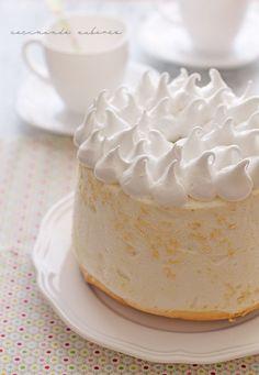 Angel food cake, ¡y sin gluten! Torta Angel, Angel Cake, Gluten Free Angel Food Cake, Gluten Free Treats, Angle Food Cake Recipes, Dessert Recipes, Food Cakes, Different Cakes, Wedding Desserts
