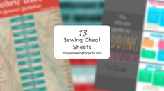 13 Sewing Cheat Sheets That Will Save You Hours