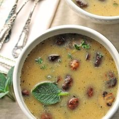 White Bean and Roasted Mushroom Soup Recipe - ZipList