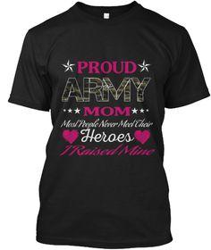 Proud Army Mom Shirt Black T-Shirt Front