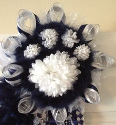 Homecoming Paw Print Mum  Navy Blue  Ready To Ship by MumAMia3, $140.00
