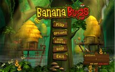 休闲游戏 香蕉虫 界面欣赏 游戏ui设计...