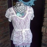 lace shirt, so adorable. It's on my wish list.