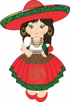 Mexican Birthday Parties, Mexican Fiesta Party, Hispanic Heritage, Paper Dolls, Painted Rocks, Diy And Crafts, Mickey Mouse, Clip Art, Painting