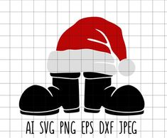 Santa Boots, Christmas Svg, Monogram, Embroidery, Ideas, Monogram Tote, Needlework, Needlepoint, Thoughts