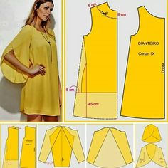 Easy sewing tips are available on our website. Check it out and you wont be sorry you did. Fashion Sewing, Diy Fashion, Ideias Fashion, Moda Fashion, Dress Sewing Patterns, Clothing Patterns, Sewing Tutorials, Sewing Projects, Sewing Hacks