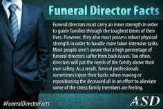 Physical demands on funeral directors