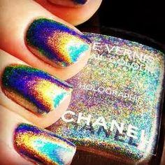 hologram nail polish by Chanel