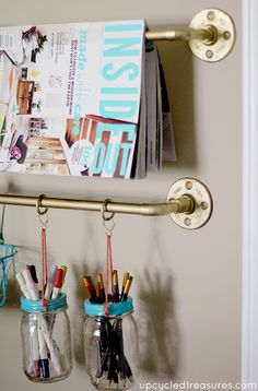 how-to-make-a-diy-industrial-chic-pipe-rail-storage-upcycledtreasures