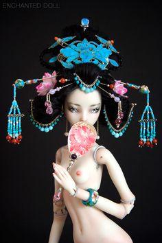 "Bjd d'artiste, Enchanted Doll:  ""Cixi, the Young Empress""  par Marina Bychkova"
