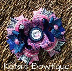 Denim Doll boutique bow by KotasBowtique on Etsy, $8.99