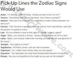 Pick-Up lines for the Signs, my favorite one yet @potraitdeyeol