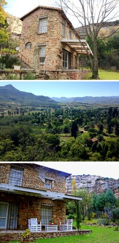 This fantastic French-style cottage is just outside Clarens and offers the ideal spot for that long awaited romantic getaway in the mountains ... You'll feel like you're on a wonderful holiday in the French countryside.  #France #SouthAfrica #frenchstyle #cottage #mountaincottage #romantic #romanticgetaway