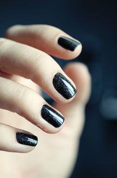 Holographic Black Nail polish Comparison