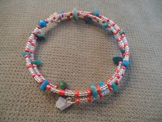 Glass & Turqoise Braclet by LaurelMoonCreations on Etsy, $7.99
