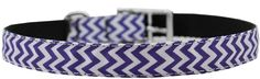 Mirage Pet Products 3/4' Chevrons Nylon Dog Collar with Classic Buckle, Size 14, Purple -- Check this awesome product by going to the link at the image. (This is an affiliate link and I receive a commission for the sales)