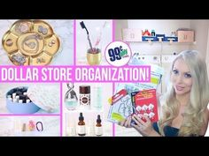 Mmm M nmmm a acc roundup of the best dollar store organization hacks you'll immediately want to copy! Dollar store organization tips for bathroom drawers, your freezer. Dollar Tree Organization, Makeup Storage Organization, Laundry Room Organization, Organization Ideas, Storage Ideas, Organizing Tools, Dollar Store Bins, Dollar Store Hacks, Dollar Stores